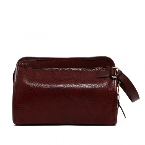 Large Travel Kit - Chocolate - Pebbled Tumbled Leather in