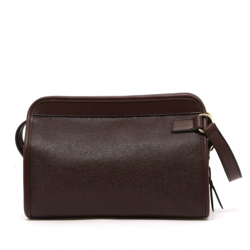 Large Travel Kit - Chocolate - Scotch Grain Leather in