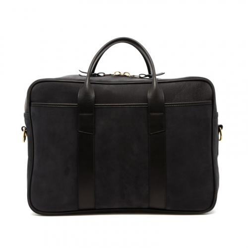 Commuter Briefcase - Black - Nubuck  in