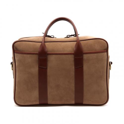 Commuter Briefcase - Sand/Chestnut - Nubuck  in