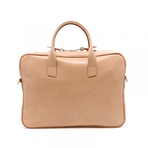Computer Briefcase - Natural - Tumbled Leather  in