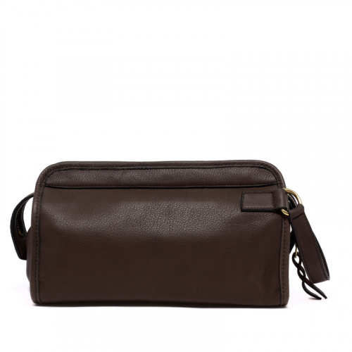 Small Travel Kit - Warm Grey - Supple Tumbled Leather in