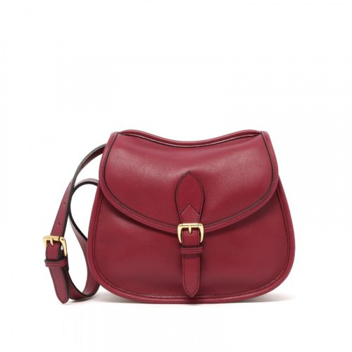Rider Bag - Berry - Tumbled Leather  in
