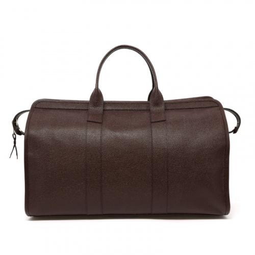Signature Travel Duffle - Chocolate - Scotch Grain Leather in