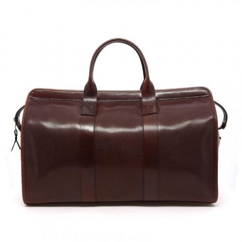Signature Travel Duffle - Dark Brown - Stingray Print Leather in