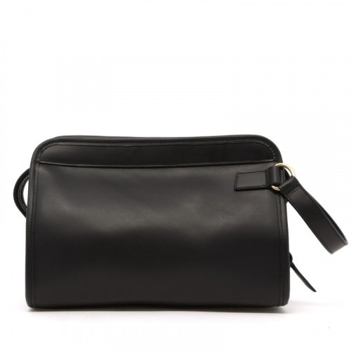 Large Travel Kit - Black - Matte Harness Leather in