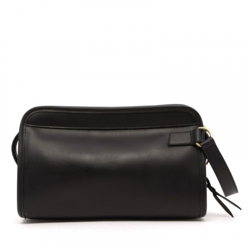 Small Travel Kit - Black - Matte Harness Leather in