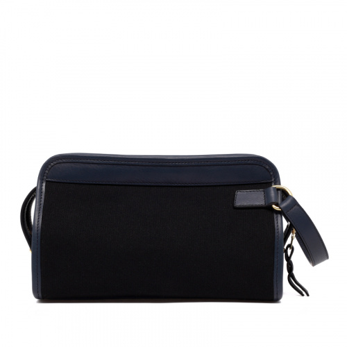 Small Travel Kit - Black/Navy - Canvas in