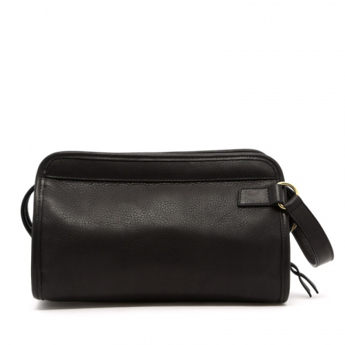 Small Travel Kit - Black - Supple Pebbled in