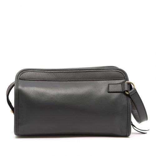 Small Travel Kit - Grey - Tumbled Leather in