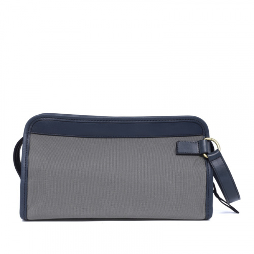 Small Travel Kit - Light Grey/Navy- Sunbrella in
