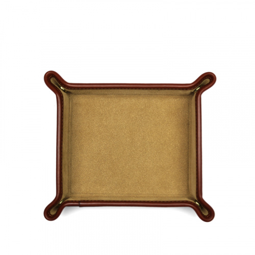 Suede Valet Tray in Suede