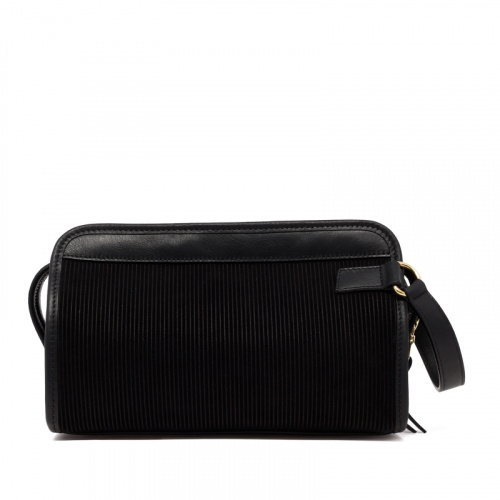 Small Travel Kit - Black - Corduroy Suede in
