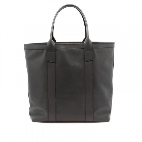 Tall Tote - Grey - Tumbled Leather  in