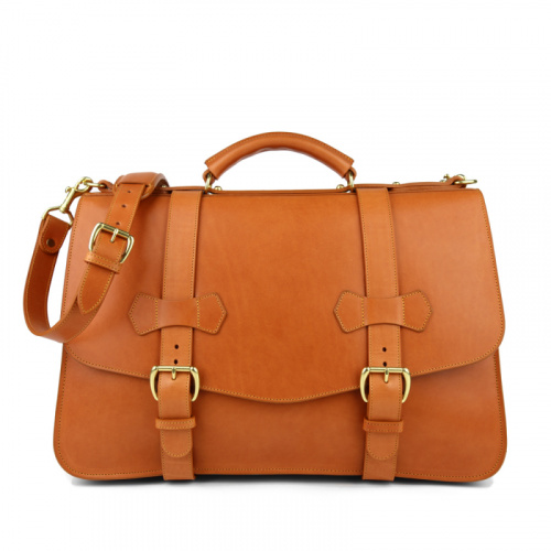 Small Lawyer's Briefcase in Harness Belting Leather