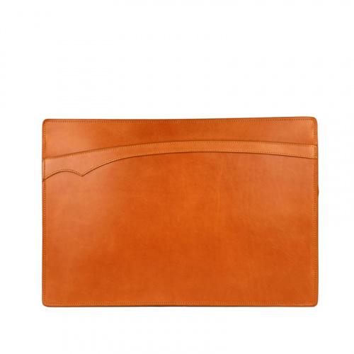 Zipper Portfolio in Harness Belting Leather