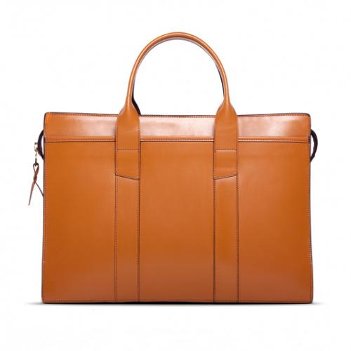 Zip-Top Briefcase London Tan in
