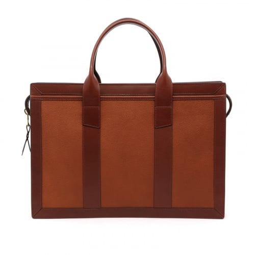 Zip-Top Briefcase - Cognac/Chestnut - Scotch Grain Leather in