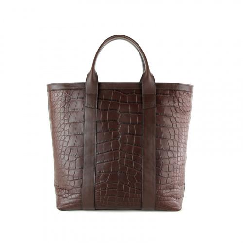 Alligator Zipper Tote Bag  in American Alligator