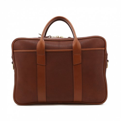 Commuter Briefcase - Antique/Cognac - Chevre in