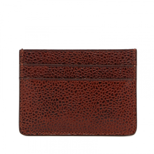 Double Card Wallet - Dark Chestnut - Scotch Grain Leather  in