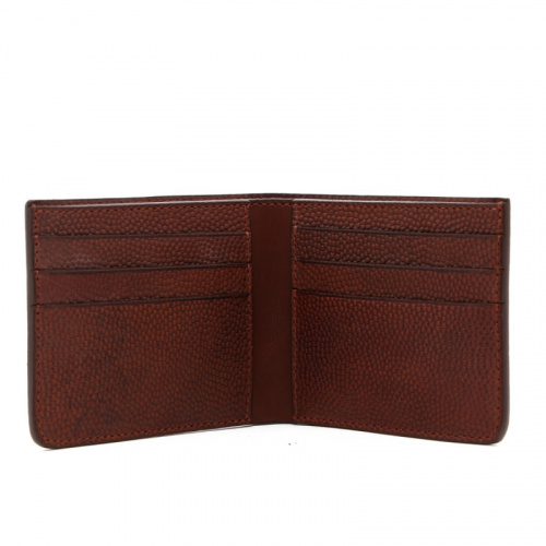 Bifold Wallet - Brown - Scotch Grain Leather in