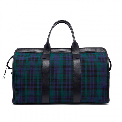 Signature Travel Duffle - Black Watch Tartan/Black - Canvas in