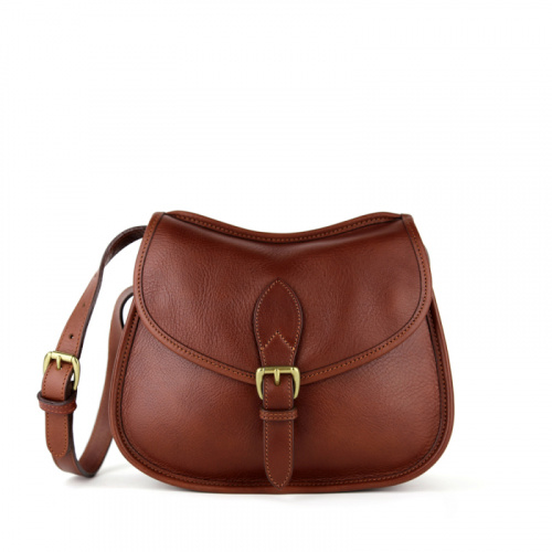 Rider Shoulder Bag in Smooth Tumbled Leather