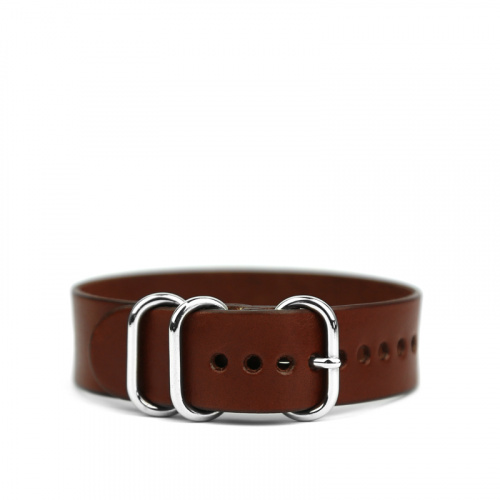 18mm Leather Watch Strap in Harness Belting Leather