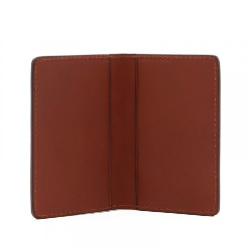 Folding Card Case - Chestnut - Belting Leather  in