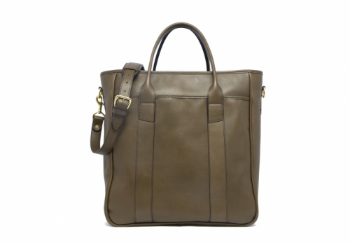 Commuter Tote-Olive in Smooth Tumbled Leather