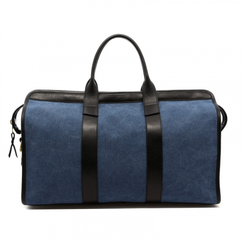 Signature Travel Duffle - Stone Wash Denim/Black - Canvas in