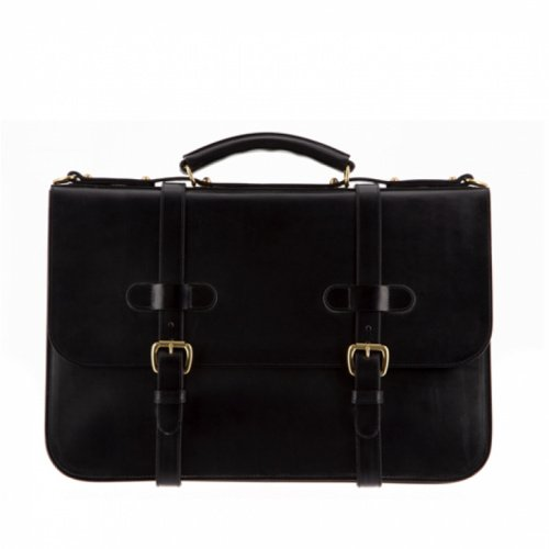 English Briefcase Black Bridle in