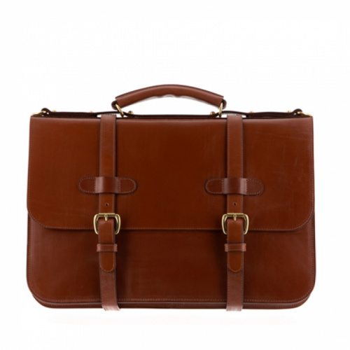 English Briefcase Chestnut Bridle in