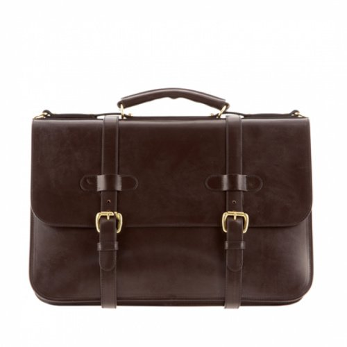 English Briefcase Chocolate Bridle in