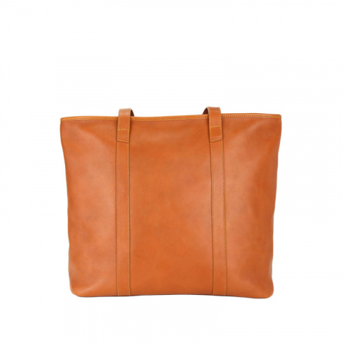 Large Laurelie Zip Top Tote  in Smooth Tumbled Leather