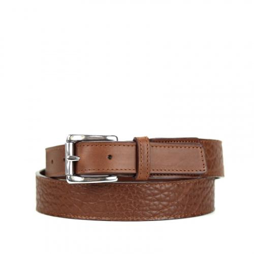 Shrunken Grain Leather Belt #2 in Shrunken Grain Leather