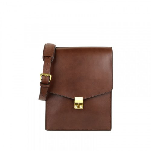 Lock Messenger Bag in Harness Belting Leather
