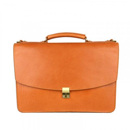 The Wall Street Briefcase in Harness Belting Leather
