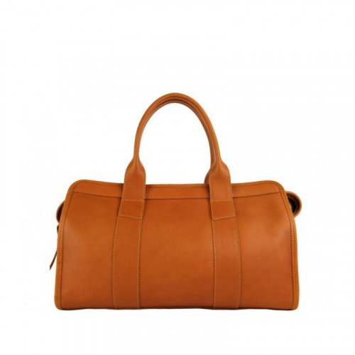 Signature Satchel in Smooth Tumbled Leather