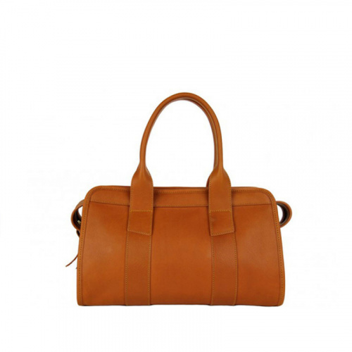 Small Signature Satchel  in Smooth Tumbled Leather