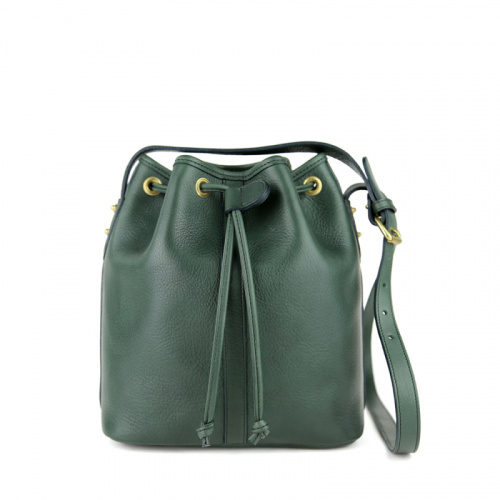 Mini Bucket Bag in Smooth Tumbled Leather