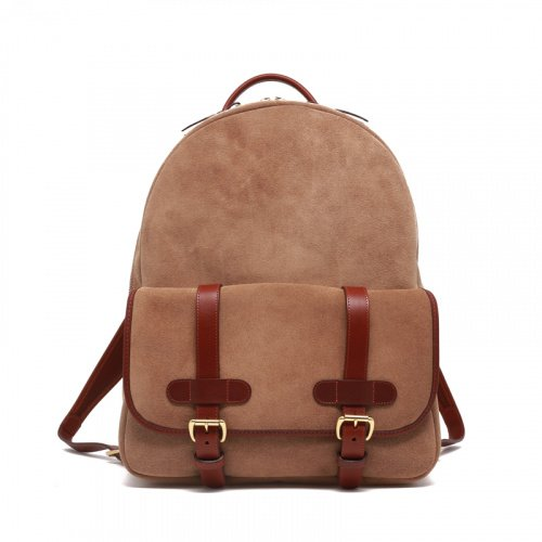 Hampton Backpack - Sand Suede in Suede