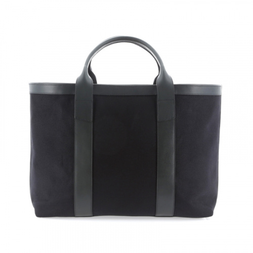 Large Working Tote - Black/Green - Canvas in