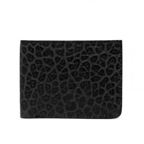Bifold Wallet in Shrunken Grain Leather