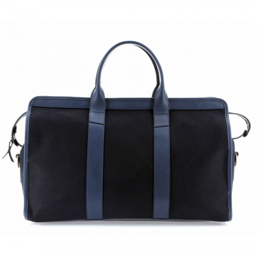 Signature Travel Duffle - Black/Navy - Canvas in