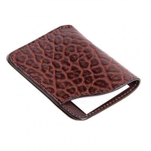 Card Wallet in Shrunken Grain Leather
