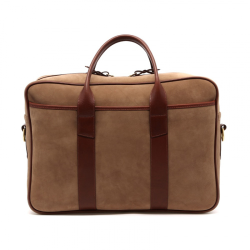 Commuter Briefcase - Sand/Chestnut - Nubuck  in