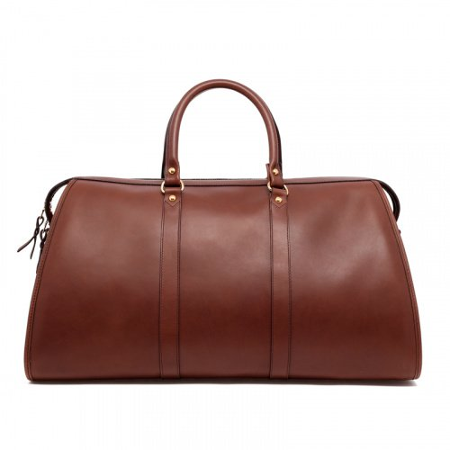 Hampton Duffle - Dark Taupe - Belting Leather in