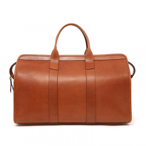 Signature Travel Duffle - Cognac - Hatch Grain Leather in